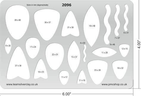 metal clay template toggles picks 2096