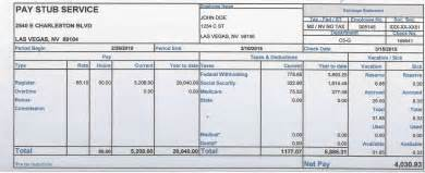 stub template doc 600600 pay stub templates a free pay stub