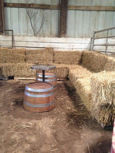 straw bale couch love love love this hay bale sofa wedding pinterest