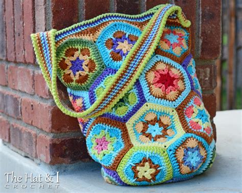 african flower crochet pattern bag boho bag an african flower tote by marken craftsy
