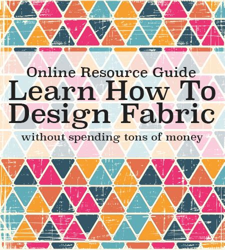 anyone can learn to design your own fabric learn how for