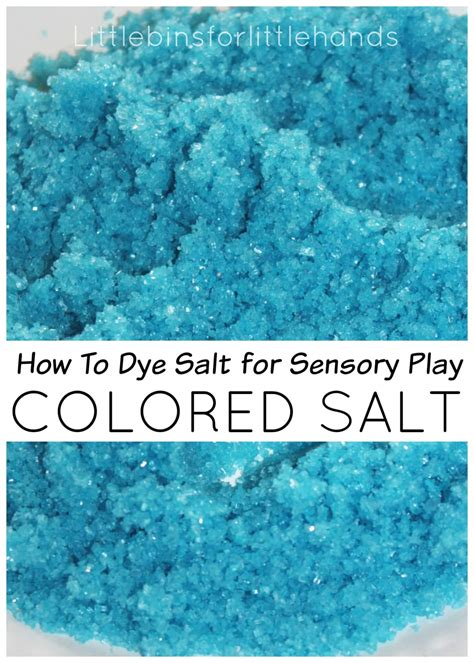for colored play colored salt sensory play how to dye salt