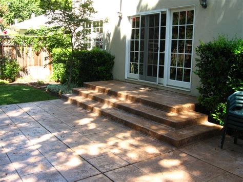 poured concrete patio 33 best images about cement stairs on