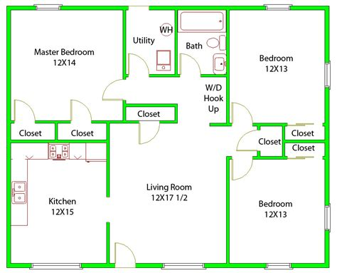 floor plan 3 bedroom 25 three bedroom houseapartment floor plans single story