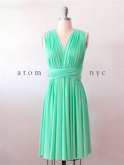mint green infinity dress green mint infinity dress convertible formal multiway