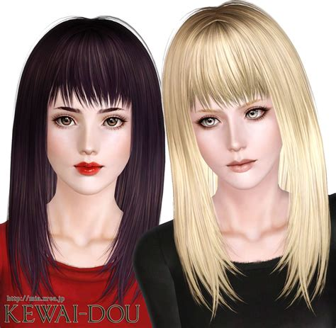 hair download the sims 3 free cecile k long hair for the sims3 kewai dou