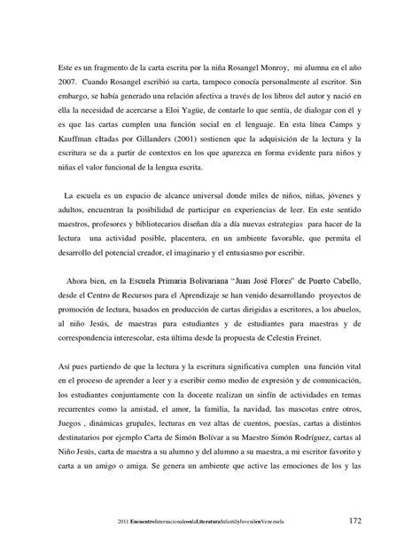 carta de presentacion maestra 6to encuentro internacional con la literatura infantil y juvenil en by letra voladora