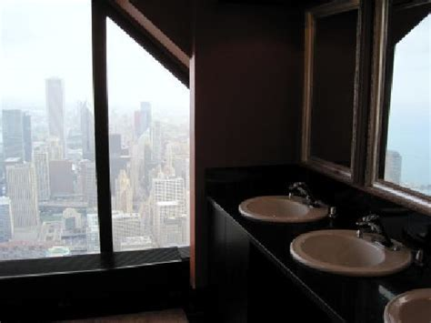 signature room hancock view from womens bathroom picture of signature lounge chicago tripadvisor