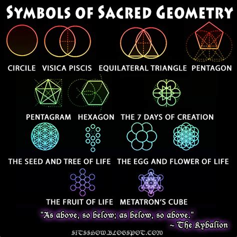 symbols of sacred geometry primal archetypes stillness