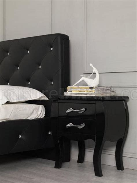 modern leatherette 5 piece bedroom set monte carlo white modern leatherette 5 piece bedroom set monte carlo black
