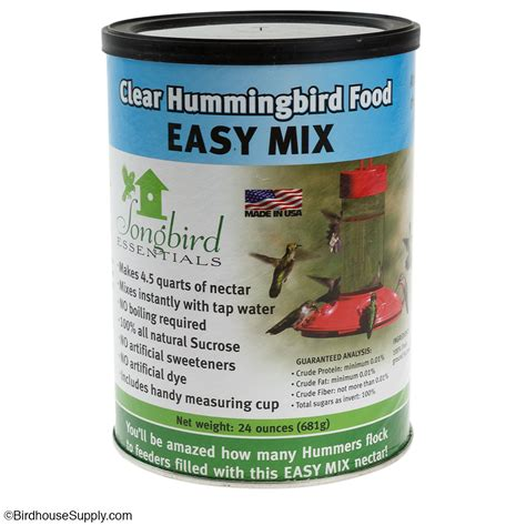 songbird essentials clear hummingbird powdered nectar