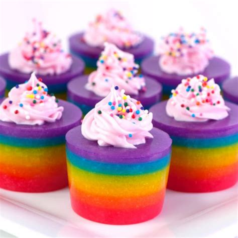 layered rainbow shots do want rainbow layered cake jello shots