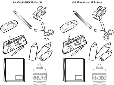 imagenes de los utiles escolares para pintar mejores 9 im 225 genes de aprestamiento en pinterest