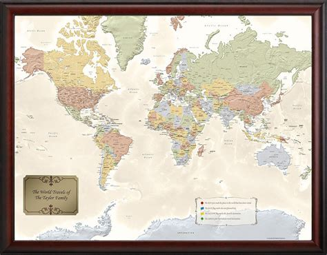 map your travels the original personalized world traveler map