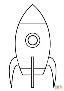 Very Simple Rocket Coloring Page Free Printable Coloring Simple Colouring Pages