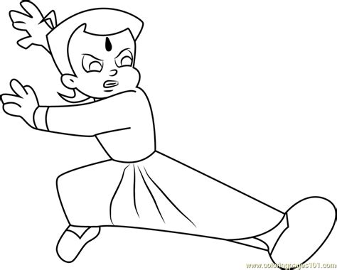 chhota bheem coloring pages games fighting chhota bheem coloring page free chota bheem