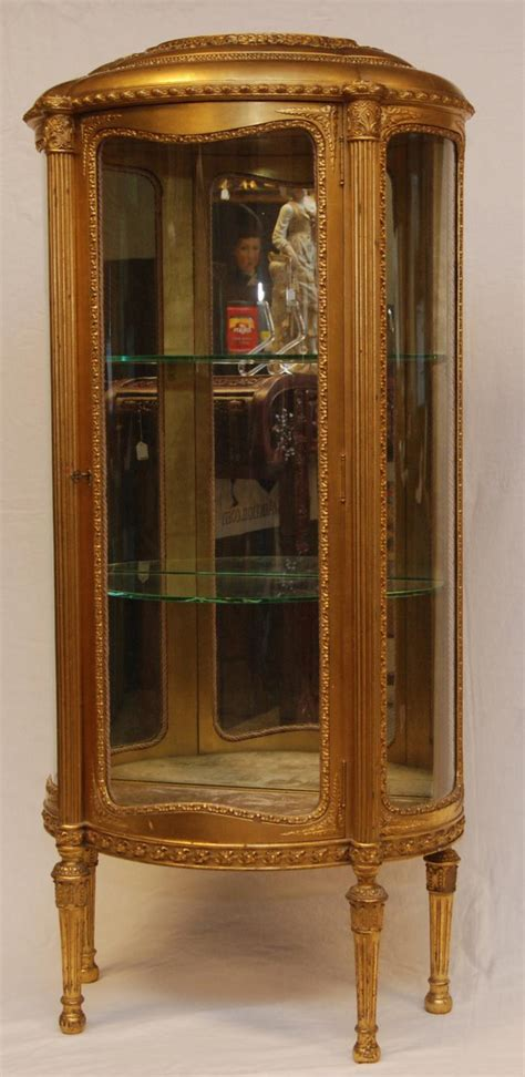 Antique Curio Cabinets : Glass Door Living Room with White