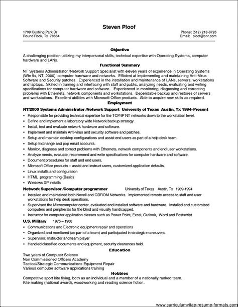 computer hardware and networking resume sles sle resume computer engineer student resume