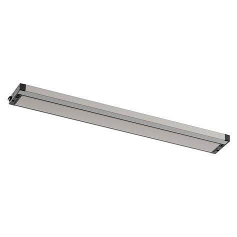 30 inch led under cabinet light kichler lighting 6u series led nickel textured 30 inch led