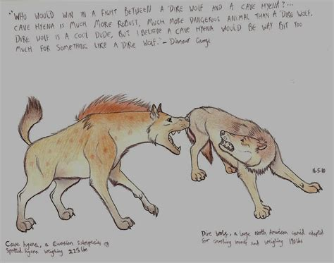hyena vs cave hyena vs dire wolf by hyena on deviantart