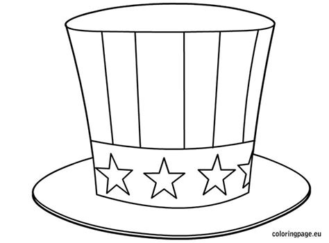 coloring page uncle sam uncle sam s hat coloring page preschool pinterest