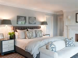 coastal bedroom with upholstered headboard home