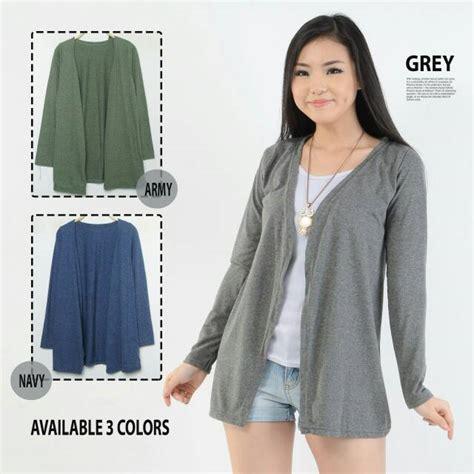 fashion baju atasan blouse cardigan kaos murah wanita cewek kekinian grosir two tone