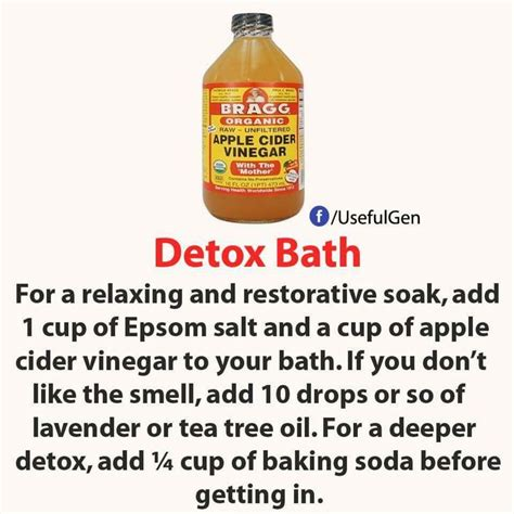 Detox Bath For Cough And Cold by Best 25 Apple Cider Vinegar Bath Ideas On