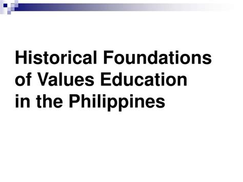 thesis about values education in the philippines ppt introduction to values education powerpoint