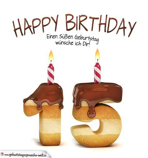 Lustige Geburtstagssprueche Zum 15 Geburtstag by Happy Birthday In Keksschrift Zum 15 Geburtstag