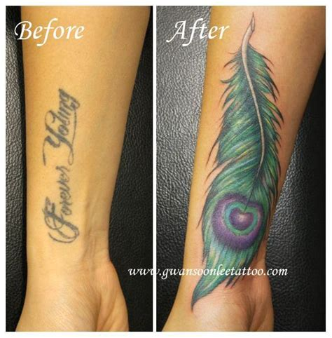 feather cover up tattoo peacock feather cover up tattoos feather
