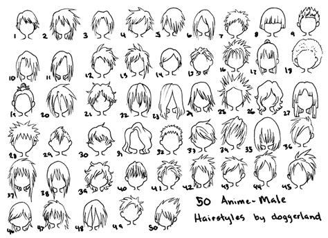names of anime inspired hair styles 50 anime male hairstyles by orangenuke on deviantart