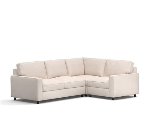 pb comfort square pb comfort square arm upholstered 3 piece sectional with