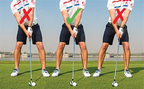 how to set up golf swing how to get set up for hitting crisp powerful iron shots