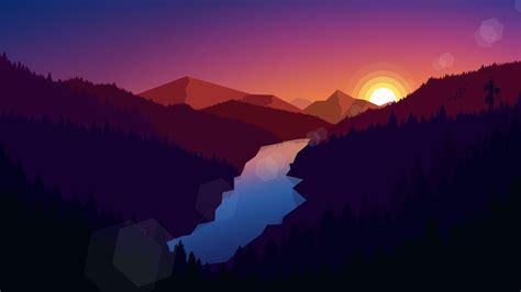 forest dark evening sunset  light