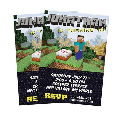 minecraft birthday invitations templates 7 best images of minecraft diy printable invitation