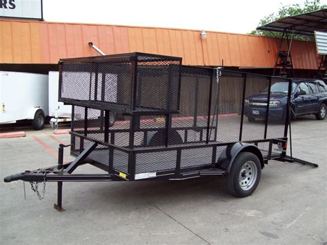 landscape trailer racks