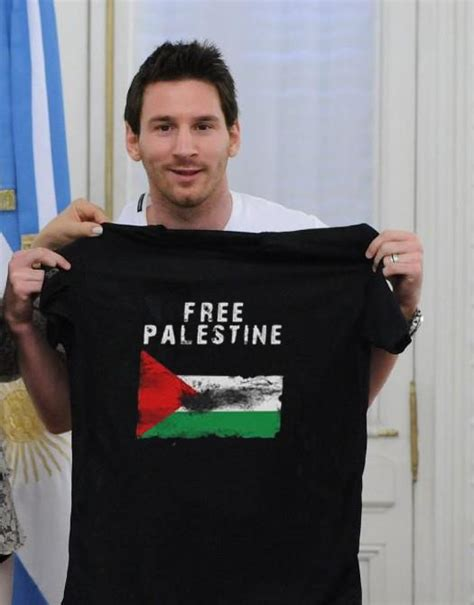 Kaoa Baju T Shirt Free Palestina kontroversi gambar messi dengan baju quot stand with israel