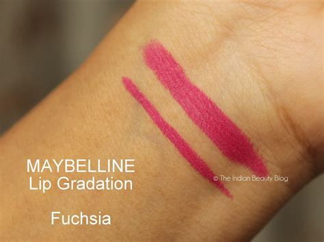 Maybelline Lip Gradation maybelline lip gradation fuchsia review swatch price