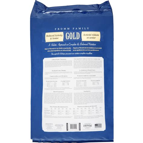 fromm gold food fromm gold food reduced activity senior 5 lb