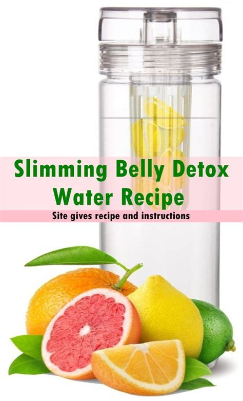 Belly Burning Detox Recipe by Slimming Belly Detox Water Recipe Healthtastic