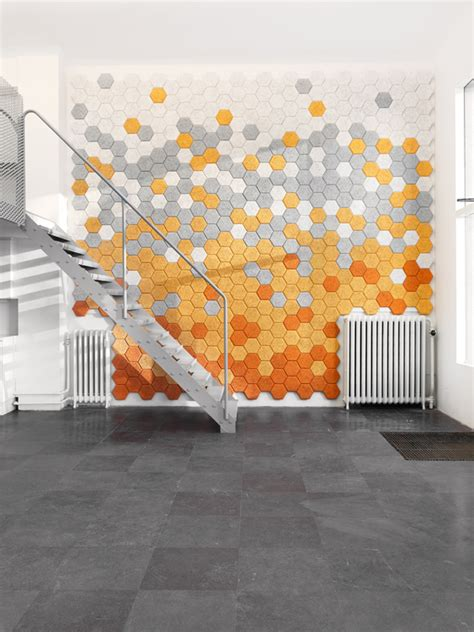 design form us with love hexagon acoustic tiles by form us with love for tr 228 ullit