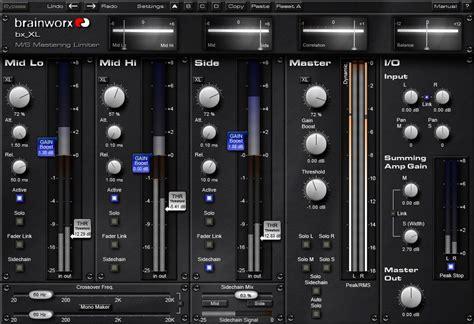 bx xl kvr brainworx releases bx xl m s mastering limiter public