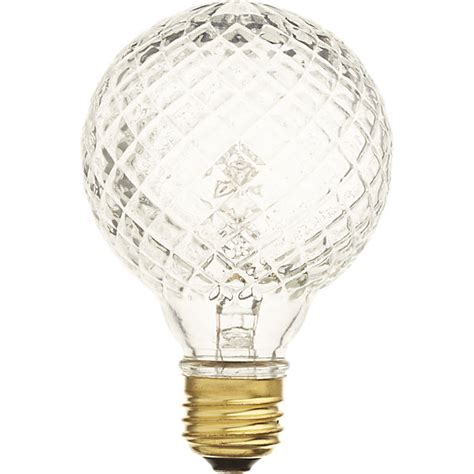 cut glass light bulb cut glass halogen 40w light bulb cb2
