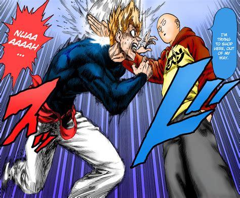 one anime vs one punch garou vs saitama 1st by knight133