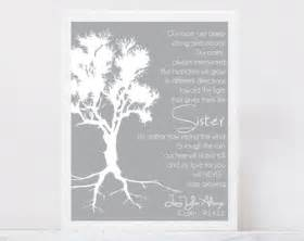 Wedding gift for sister of bride roots family tree sister poem