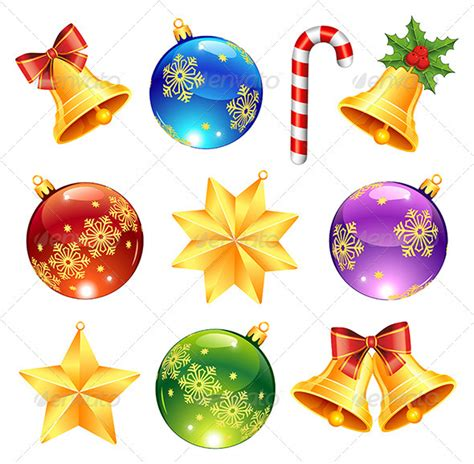 bright christmas decorations graphicriver