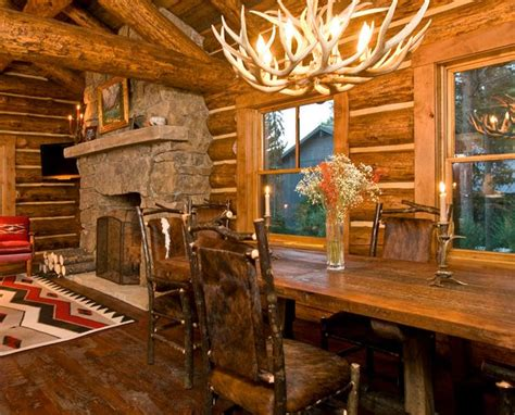 Pictures Of Log Home Interiors 17 Best Images About Beautiful Log Cabin Dining Rooms On Pinterest Credit Score Antler