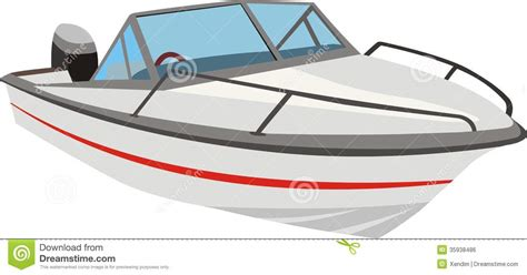 cartoon boat motor speedboat or motorboat stock vector illustration of