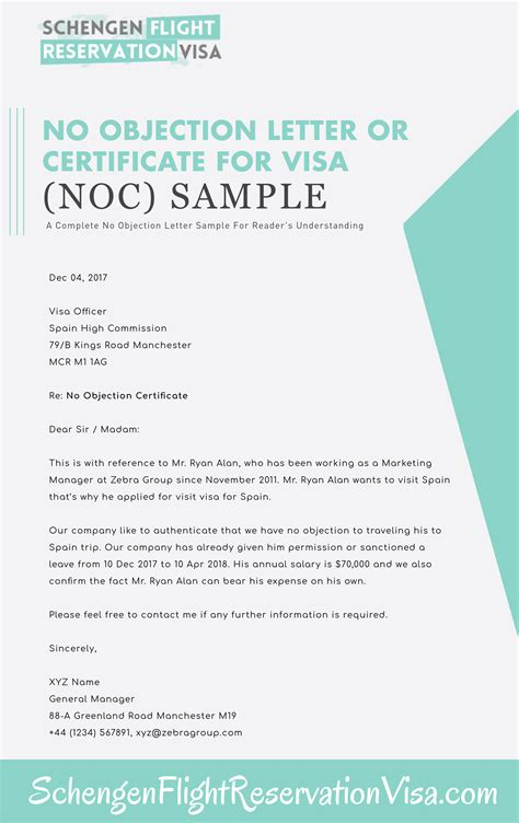 Sponsor S Letter Of No Objection For Bank Account no objection letter format for employer